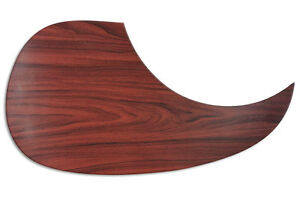 Wood-FX-Acoustic-Guitar-Pickguard-MAHOGANY-CUSTOM-Self-Adhesive-Scratchplate