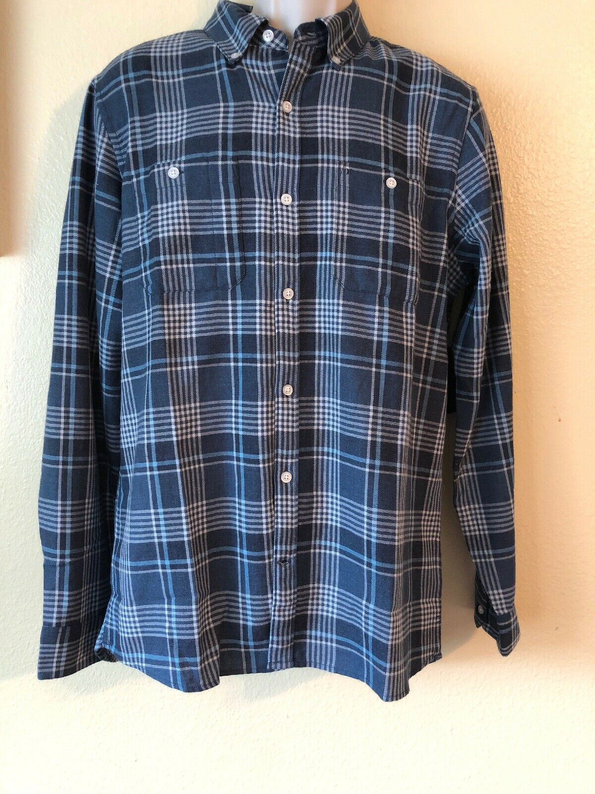e72cbb3c01802 Hurley Men s M XL XXL Aaron Flannel Classic Fit Long Sleeve Front Shirt  Button nnsycl2446-Casual Shirts   Tops