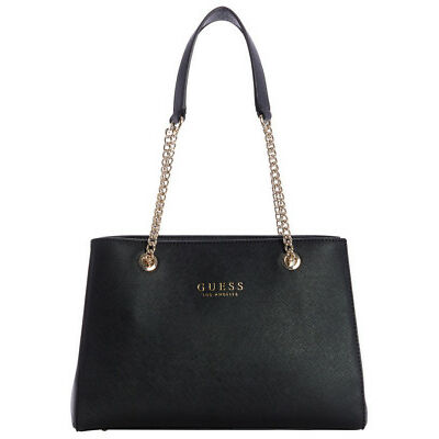NEW Guess Robyn Double Handle Shoulder Bag Black