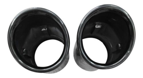 2x Premium Endrohre Auspuff in Schwarz Original Qualität 67-73mm viele Fahrzeuge