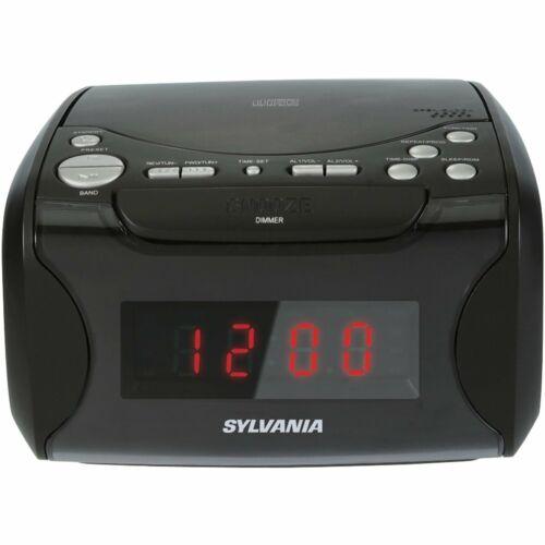 Sylvania Alarm Clock Radio with CD Player and USB Charging