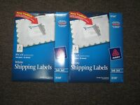 Lot Of 2 X Avery 8168 Inkjet White Shipping Label Size 3 1/2x 5 25 Sheets
