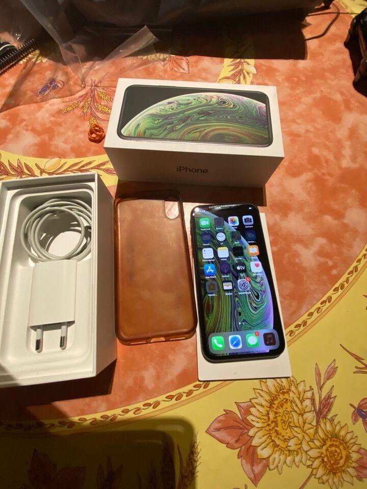 iPhone XS, 64 GB, sort
