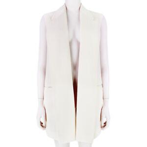 Stella-McCartney-Luxurious-Cream-Sleeveless-Jacket-Blazer-IT40-UK8