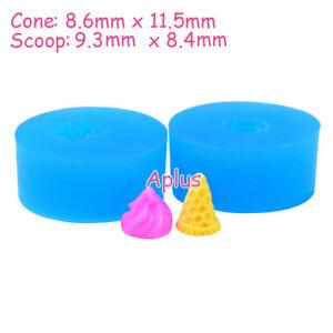 XFiEB245 11.5mm Ice Cream Cone Silicone Mold Fondant Cake Decoration Resin Clay