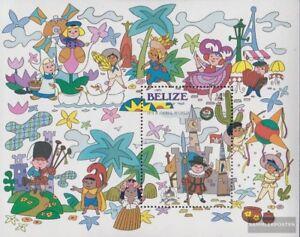 Frank Belize Block74 complete Issue Never Hinged 1985 Disneyland Unmounted Mint