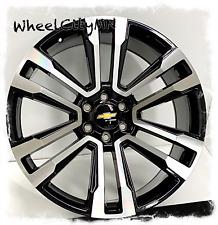 24 Inch Gloss Black Machine 2018 Chevy Tahoe Suburban Oe Replica Wheels 6x55