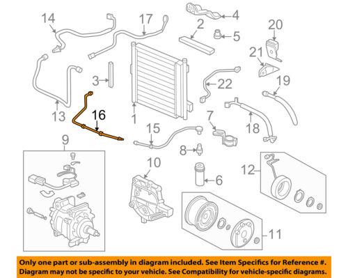 HONDA OEM 96-00 Civic 1.6L-L4 A//C AC Condenser//Compressor//Line-Line 80342S01A01