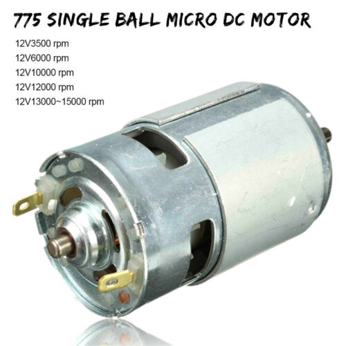 775 Motor 12V DC 6000-15000 RPM Ball Bearing Large Torque High-power Low Noise