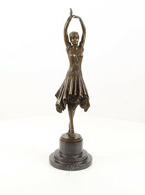 "9937106-ds Bronze Sculpture Figure Art Deco Female Dancer Lady "" Miss Kita To Be Highly Praised And Appreciated By The Consuming Public Art"
