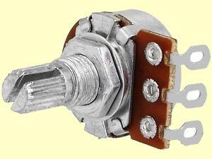Radiohm Poti Potentiometer 2x 100k lin 4mm Achse Stereo 2x 100K Potenziometer