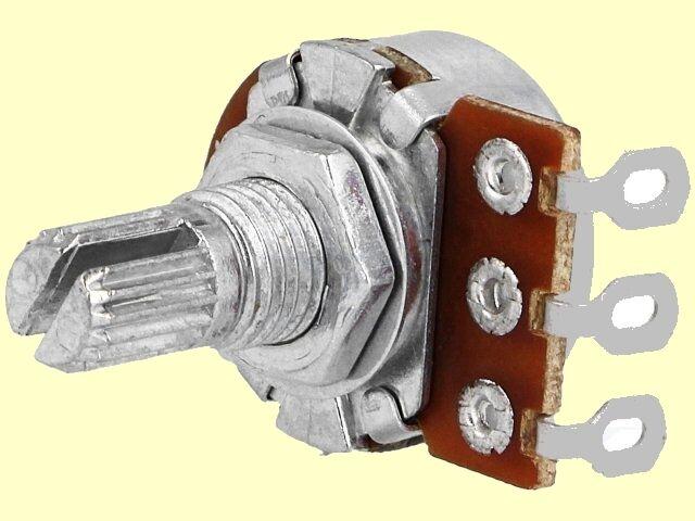 100 pcs. Poti Potentiometer linear  mono R16  10K  125mW Achslänge:9mm Lötösen