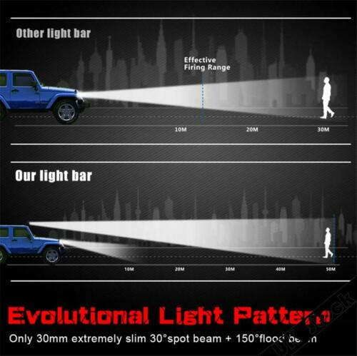 7 Inch 60W 4D Lens Super Slim Mini LED Light Bar 6000Lm For Car//Fire Engine