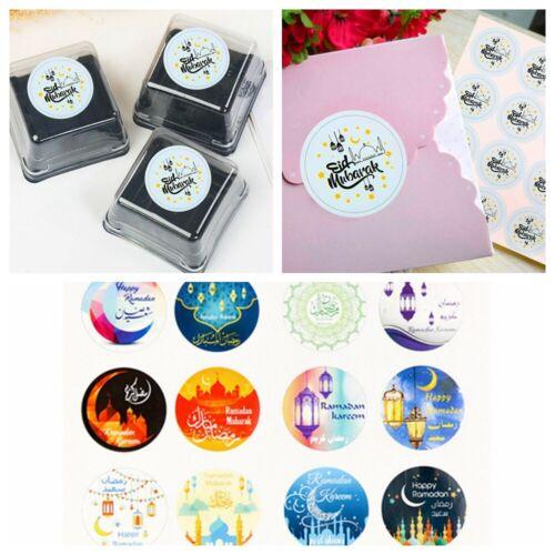 Muslim Festival Decoration Eid Mubarak  Gift Boxes Seal Label Handmade Sticker
