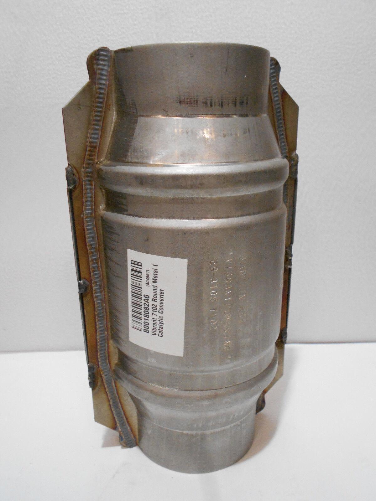 Vibrant 7102 Round Metal Core Catalytic Converter