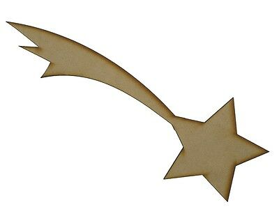 MDF Wooden Shapes Shooting Stars 50mm High 3mm Thick Custom Cut x 5 pieces 022