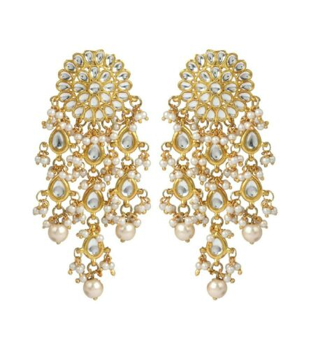 Indian Traditional Fashion Jewelry Bollywood Designer Jhumka Dangle Earrings Set