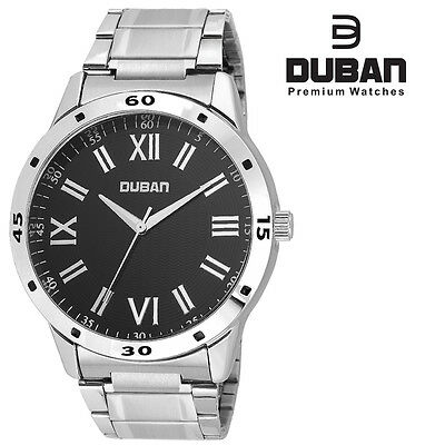 Duban Black Round Dial Wrist Watch for Men/ Boys