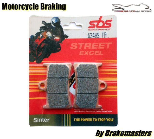 Yamaha FZ6 Fazer S2 2007 2008 09 SBS 634HS Street Sinter front brake pads FA252