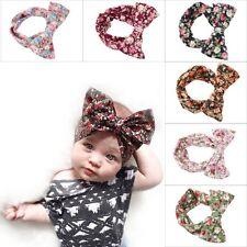 6PCS Kids Girl Baby Headband Toddler Bow Bihimia Turban Hair Band Accessories US