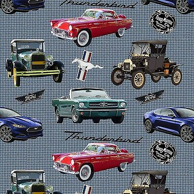 Licensed Sports Thunderbird Ford Classic Cars for Crafts & Sewing Projects #4736