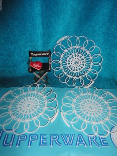 NAPKIN HOLDERS 5 3//4 # 370 VINTAGE TUPPERWARE NEW LOT OF 3 PLASTIC LACE DOILIES