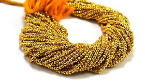 Wow-Gold-Pyrite-Coated-Gemstone-3-4mm-Rondelle-Faceted-Jewelry-Making-Beads-13-034