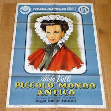 PICCOLO MONDO ANTICO manifesto poster Alida Valli Fogazzaro Lugano Valsolda 1941