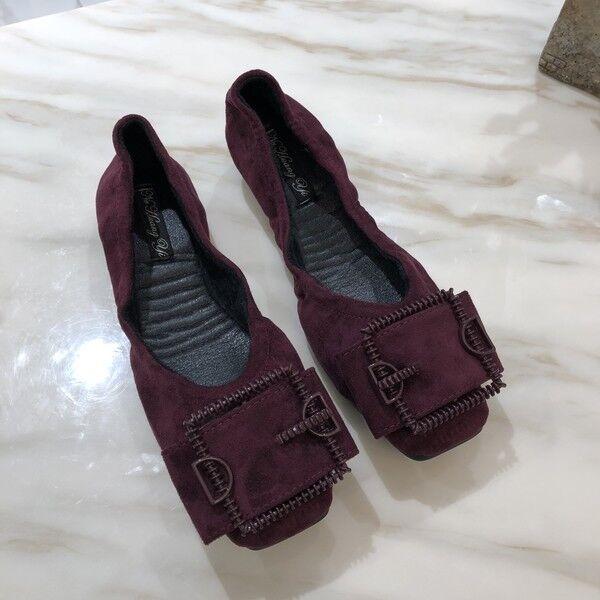 Ballerine mocassini zapatos  eleganti rojo simil pelle scamosciate scamosciate scamosciate comode 1651  oferta de tienda