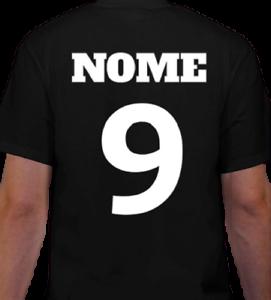 T-SHIRT-NOME-e-NUMERO-maglietta-100-cotone-Calcio-Calcetto-Uomo-Donna