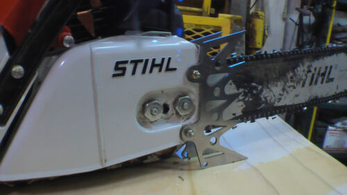 Stihl MS460 dog dawg spike ALUMINUM front cover bar skeletonize custom laser