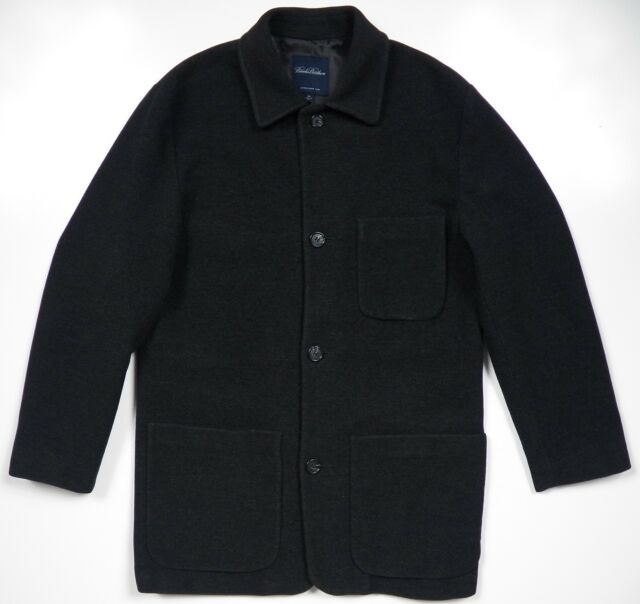 BROOKS BROTHERS MENS SMALL FIELD JACKET COAT CASHMERE WOOL CHARCOAL GREY US  MADE 18f6d2d04