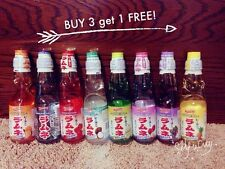 Ramune Sangria Japanese Soda 6.76 oz Carbonate Marble Soft Drink (8 Flavors)