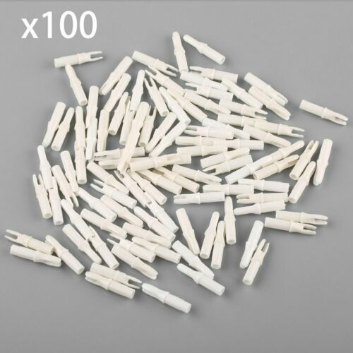 100 x Arrows Nocks for ID 6.2mm Shaft Archery Carbon Arrow Outdoor Hunting