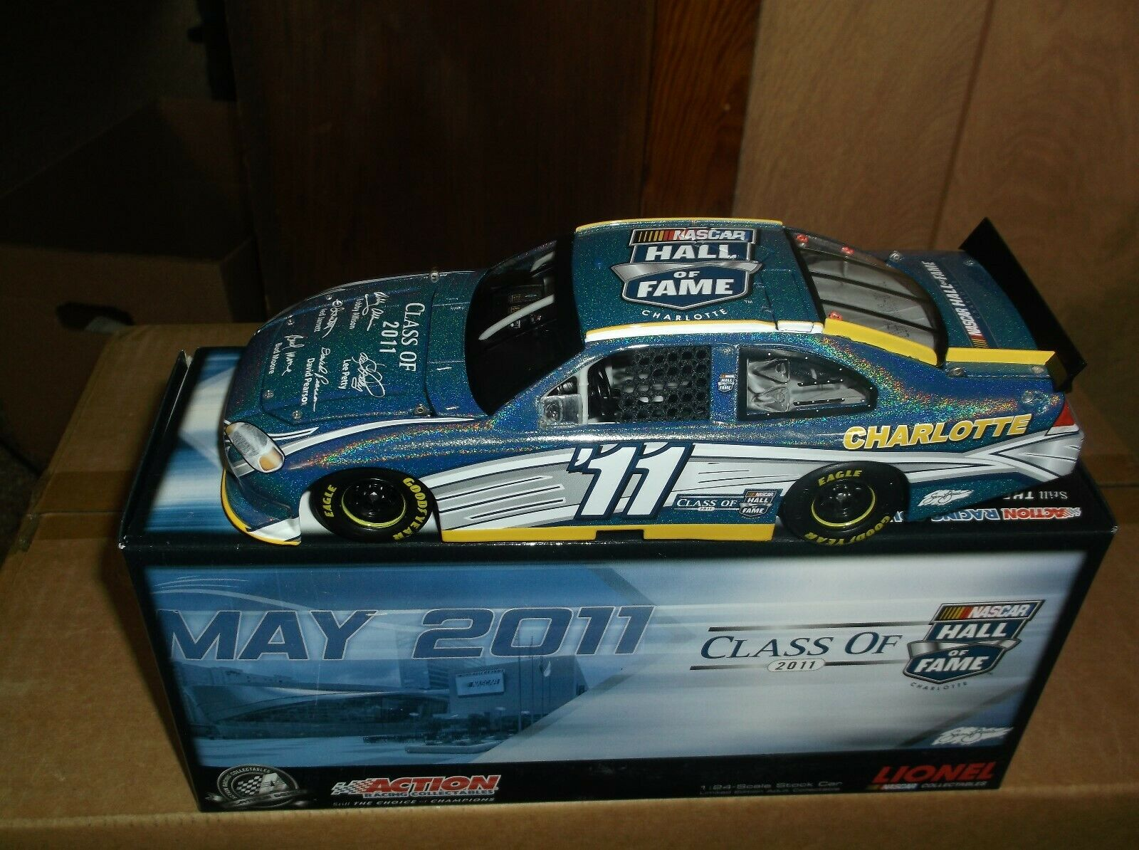 RARE 2011 5 5 5 INDUCTEES HALL OF FAME FLASHCOAT Coloreeeee 1 24TH SCALE DIECAST 5af0ae