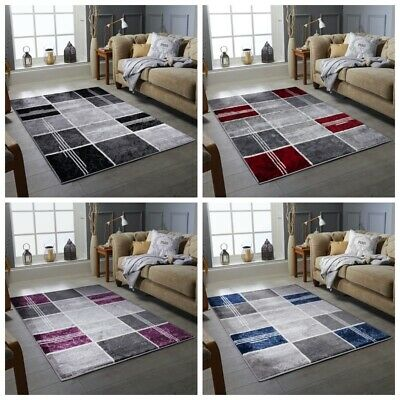 Modern Design Rug Silver Grey Soft Large Living Room Floor Bedroom Carpet Rugs Ebay
