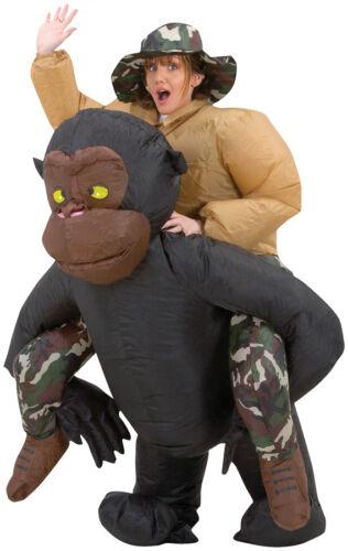 Vestido de fiesta Disfraz Adulto Gorila Inflable explotar Traje Cosplay de carnaval de tela
