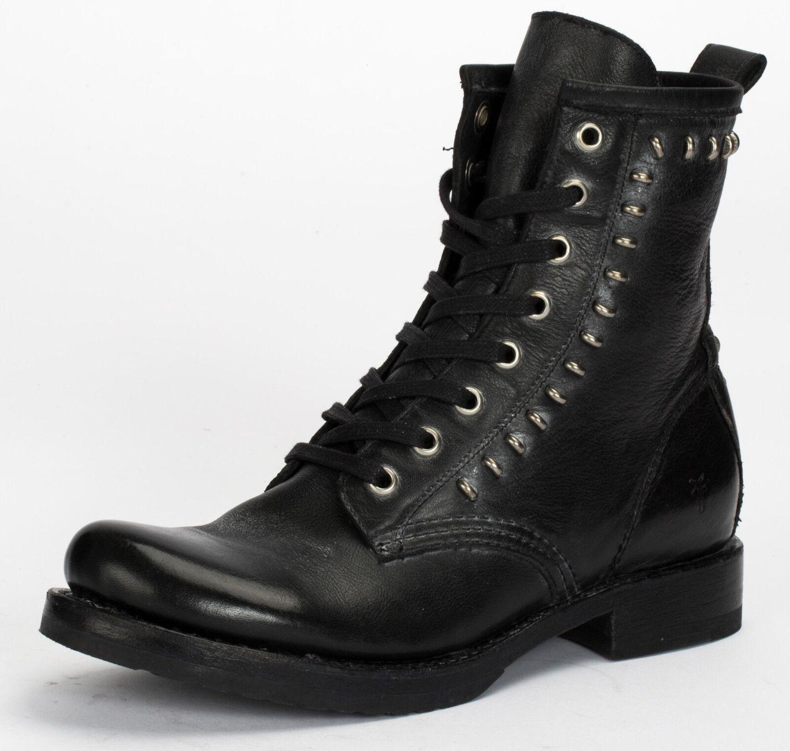 Frye Veronica para Mujer botas botas botas De Cuero Negro de combate rebeldes 3476241-negro   garantía de crédito