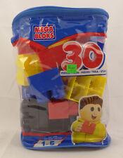 MEGA BLOKS ~ 30 PIECE PLAYSET IN VINYL ZIPPER CASE ~ 2002 8110 Maxi Set ~ NEW