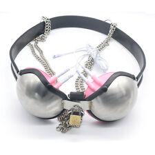 Chastity Belt Stainless Steel Bra female/Male Chastity E-stim Electrostimulation