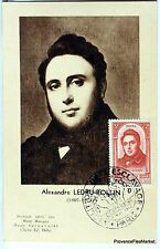 France Carte Maximum  1948 ALEXANDRE AUGUSTE LEDRU ROLLIN      Yt 796
