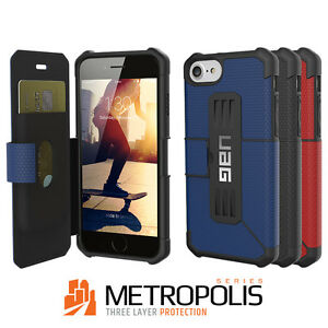 big sale db7b2 db2cb Details about Urban Armor Gear(UAG) iPhone 8 / 7 /6s Metropolis Military  Spec Folio Flip Cover