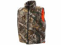 Men's Insulated Reversible Vest Hunting Shooting Camo Realtree/max Black/orange