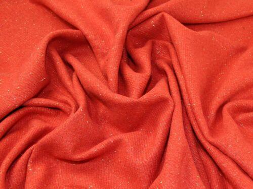 Sold Per Metre Lurex Wool Blend Coating Fabric