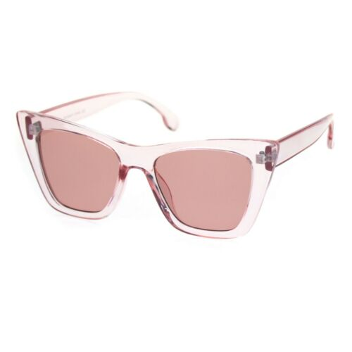 Womens Mod Style Large Square Cat Eye Hipster Plastic Sunglasses