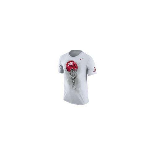 $36 Nike Men/'s Alabama Crimson Tide Helmet T-Shirt WHITE LARGE