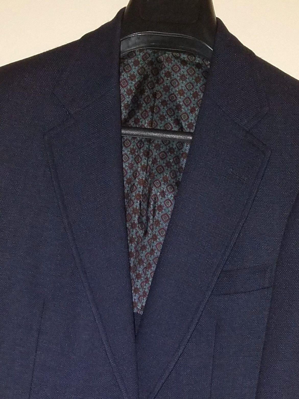 Vtg B Altman Murray Hill Collection Navy Blau 2 Button Center Vent Blazer