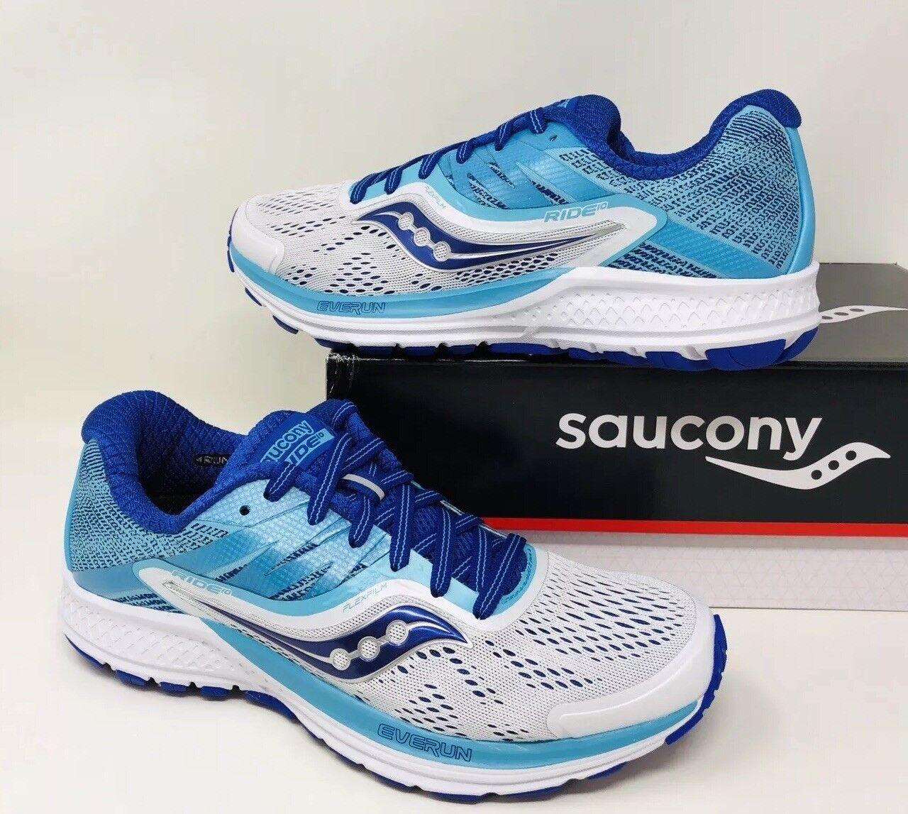 Saucony Mujer Ride 10 Calzado para Correr blancoo Azul elegir un tamaño estrecho