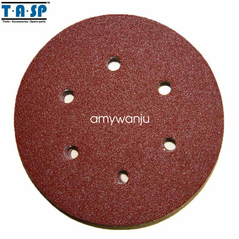 150mm Hook Loop Sandpaper Sanding Disc Aluminum Oxide125PC Grit 60 80 120 240