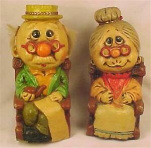 Vintage-Still-Banks-Grandpa-amp-Grandma-in-Rocking-Chairs-Old-Man-amp-Woman-Ceramic